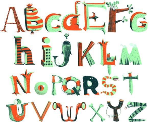 Djeco Samolepky na zeď Pirátská abeceda