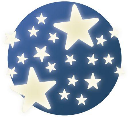 Djeco Fosforeskující samolepky na zeď Hvězdičky