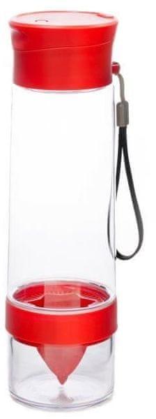 Yoko Design Láhev s lisem na citrusy 750 ml 0,75 červená