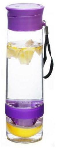 Yoko Design Láhev s lisem na citrusy 750 ml 0,75 fialová