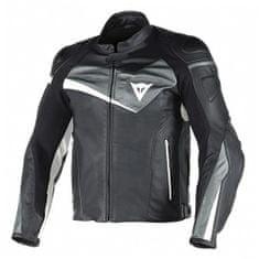 Dainese pánská kožená bunda na motorku  VELOSTER černá/antracit/bílá