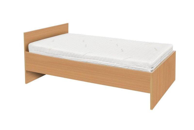MALL Set Lamino postel BUK PŘÍRODNÍ + skládací rošt + matrace Relaxdream Galaxy