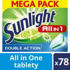 Sunlight All in 1 Tablety do myčky nádobí 78 ks