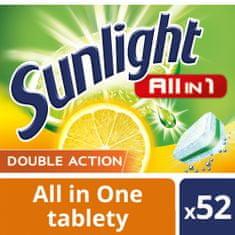 Sunlight All in 1 Citrus Tablety do myčky nádobí 52 ks