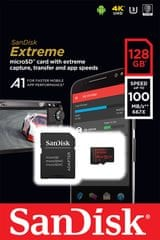 SanDisk memorijska kartica Extreme microSDXC A1, 128GB