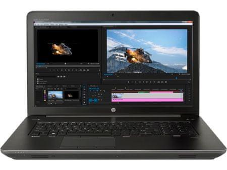 HP prenosnik ZBook 17 G4 i7-7820HQ/16GB/256GBSSD/17,3FHD/QuadroP3000M 6GB/Win10Pro (1JA88AW)