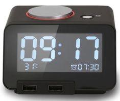 Homtime digitalna alarm ura dual USB za polnjenje/Bluetooth/SD