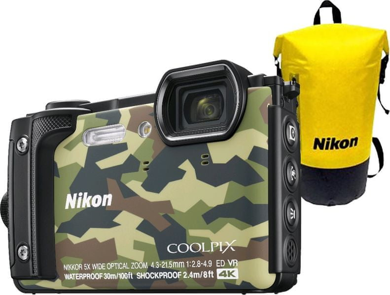 Nikon Coolpix W300 Holiday Kit Camouflage