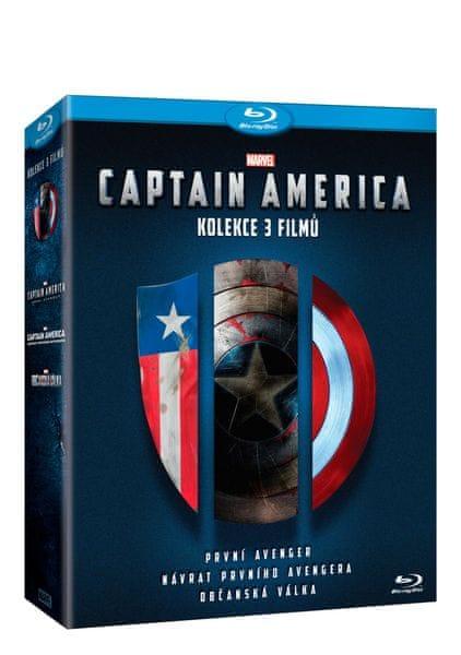 Captain America trilogie 1.-3. (3BD) - Blu-ray