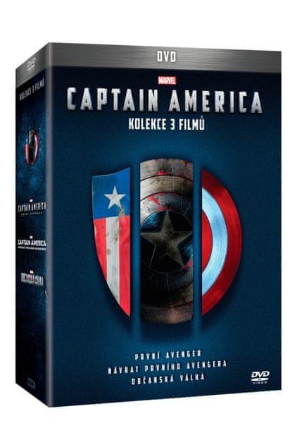 Captain America trilogie 1.-3. (3DVD) - DVD