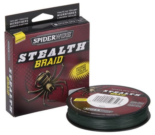 Spiderwire Splétaná šňůra Stealth Braid 270 m green 0,10 mm, 6,2 kg