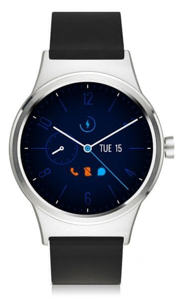 Alcatel TCL MOVETIME Smartwatch, stříbrná/černá