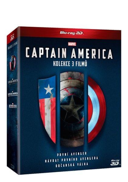 Captain America trilogie 1.-3. 3D+2D (6BD) - Blu-ray