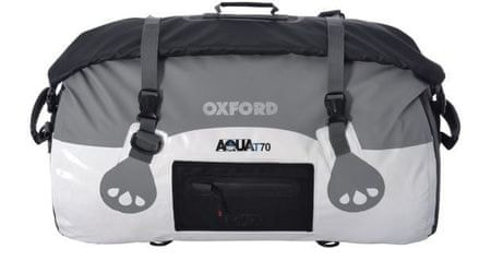 Oxford nepremočljiva torba Roll Bag, belo-siva