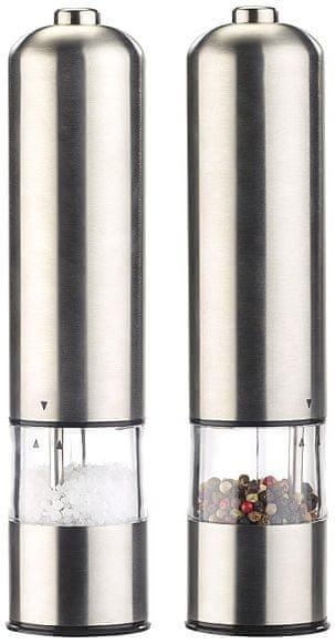 Ceramic Blade Elektrický mlýnek na sůl a pepř s keramickými kameny, 2 ks