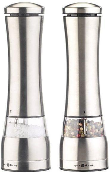 Ceramic Blade Elektrický mlýnek na sůl a pepř, nerez ocel, 2 ks