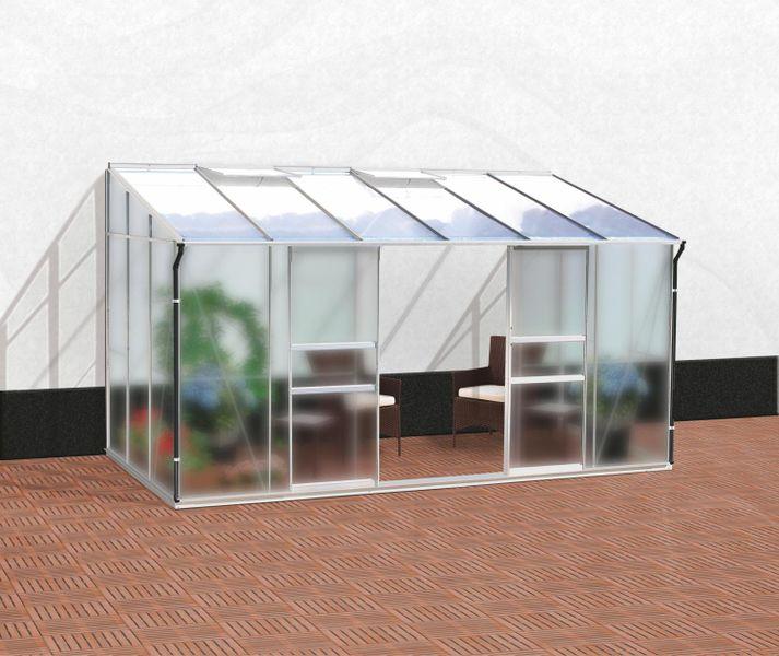 VITAVIA skleník VITAVIA IDA 7800 matné sklo 4 mm + PC 6 mm stříbrný