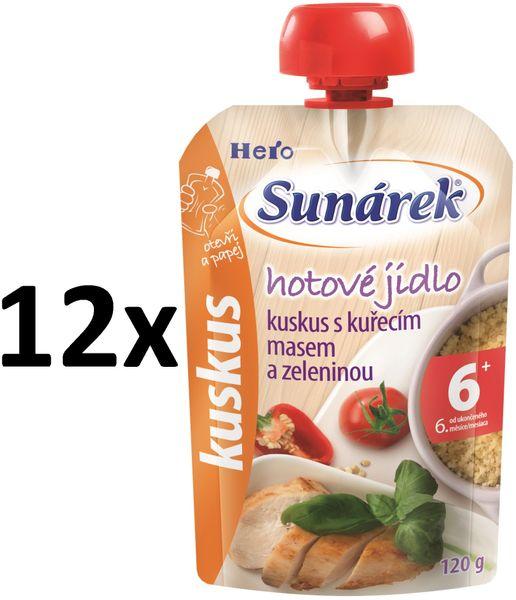 Sunárek kuskus s kuřecím masem a zeleninou 12x120g