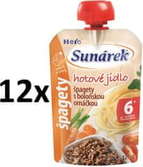 Sunárek špagety s boloňskou omáčkou 12x120g