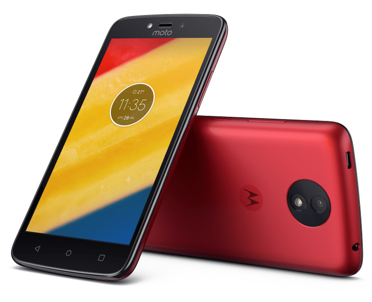 Motorola Moto C Plus (LTE), 16 GB, Dual SIM, Red