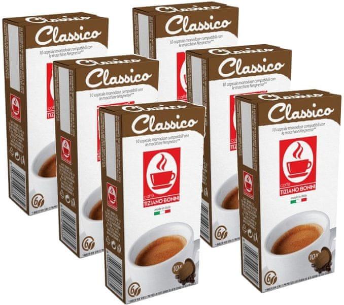 Tiziano Bonini Classico kapsle pro kávovary Nespresso 10 ks, 6 balení