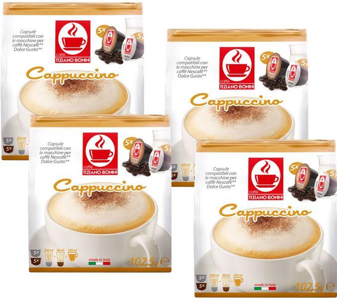 Tiziano Bonini Capuccino kapsle pro kávovary Dolce Gusto 10 ks, 4 balení