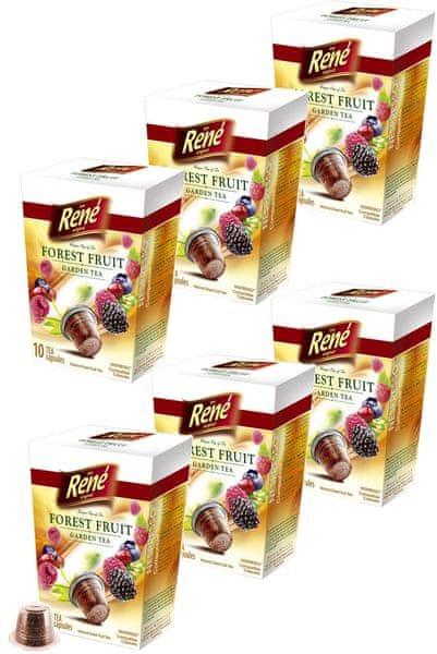 René Fruit lesní ovoce čajové kapsle Nespresso 10 ks, 6 balení