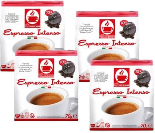Tiziano Bonini Intenso kapsle pro kávovary Dolce Gusto 10 ks, 4 balení
