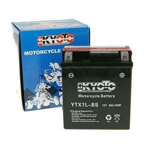 Baterie KYOTO 12V 6Ah YTX7L-BS (dodáváno s kyselinovou náplní)