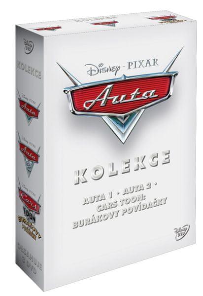 Kolekce Auta (3DVD): Auta + Auta 2 + Cars Toon: Burákovy povídačky - DVD