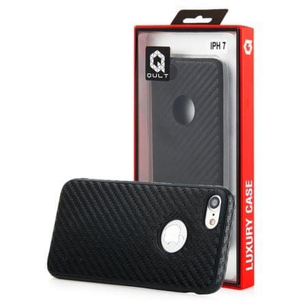 Qult silikonski ovitek za Apple Iphone 7, karbon