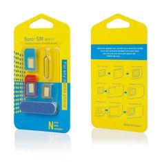 Komplet adapterjev Nano SIM, micro SIM, SIM + odpiralo in brusilna palčka 5v1