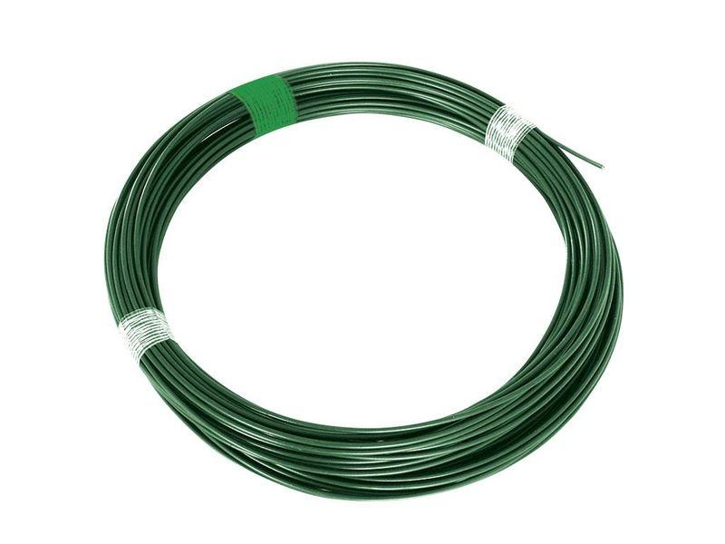 Napínací drát Zn+PVC - zelený, délka 26 m