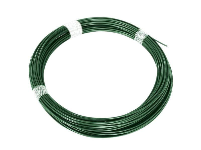 Napínací drát Zn+PVC - zelený, délka 52 m