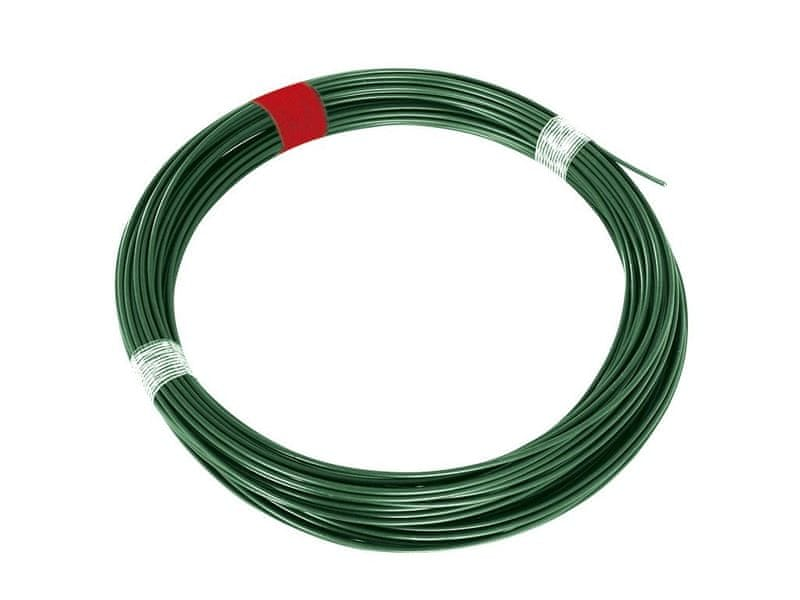 Napínací drát Zn+PVC - zelený, délka 66 m
