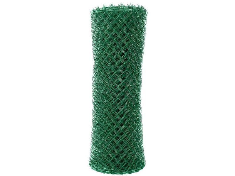 Čtyřhranné pletivo Zn+PVC (s ND) - výška 125 cm, zelená, 25 m