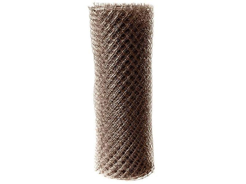 Čtyřhranné pletivo Zn+PVC (s ND) - výška 180 cm, hnědá, 25 m
