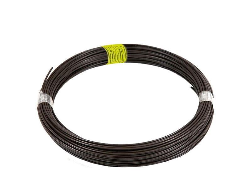 Napínací drát Zn+PVC 44m, 2,25/3,40, hnědý (žlutý štítek)