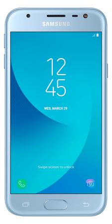 Samsung Galaxy J3 Duos, J330, Dual SIM, stříbrno-modrý