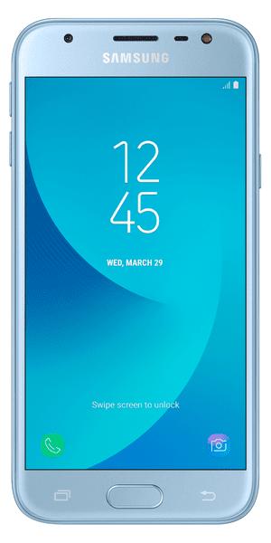 Samsung Galaxy J3 Duos, 2017, J330, Dual SIM, stříbrno-modrý