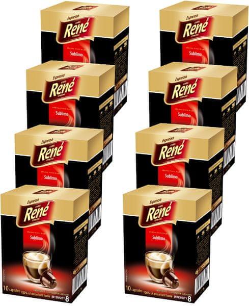 René Sublimo kapsle pro kávovary Nespresso 10 ks, 8 balení