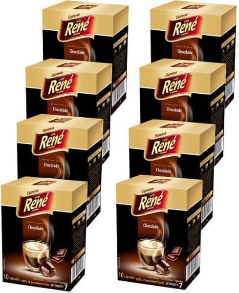 René Chocolade kapsle pro kávovary Nespresso 10 ks, 8 balení