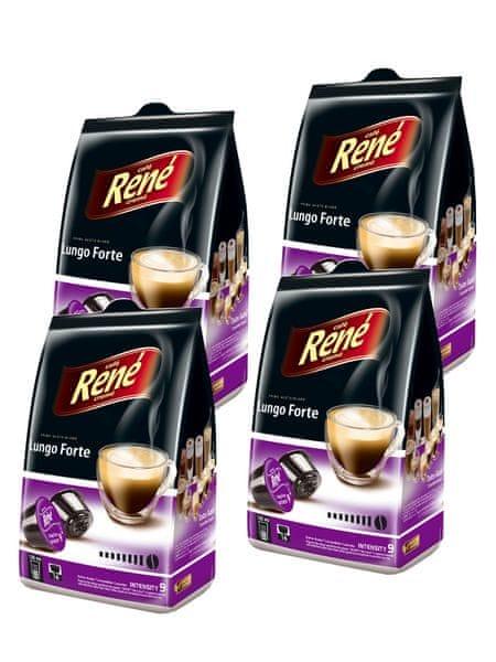 René Lungo Forte kapsle pro kávovary Dolce Gusto 16 ks, 4 balení