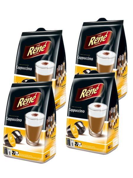 René Cappuccino kapsle pro kávovary Dolce Gusto 16 ks, 4 balení