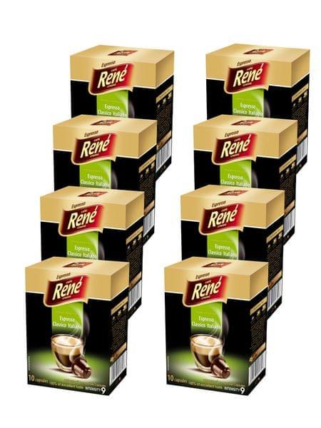 René Espresso Classico Italiano kapsle pro kávovary Nespresso 10 ks, 8 balení