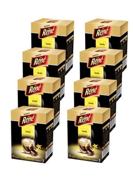 René Káva příchuť Vanilla pro kávovary Nespresso 10 ks, 8 balení