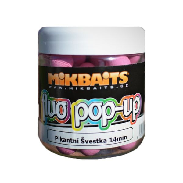 Mikbaits Plovoucí Boile Fluoro 250 ml 18 mm neutral fluo mix