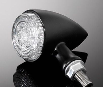 Highway-Hawk kombinované moto blinkry ALL IN ONE s LED, E-mark, černá (2ks)