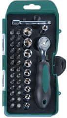 Mannesmann Werkzeug set nasadnih ključev in vijačnih nastavkov, 38 kosov