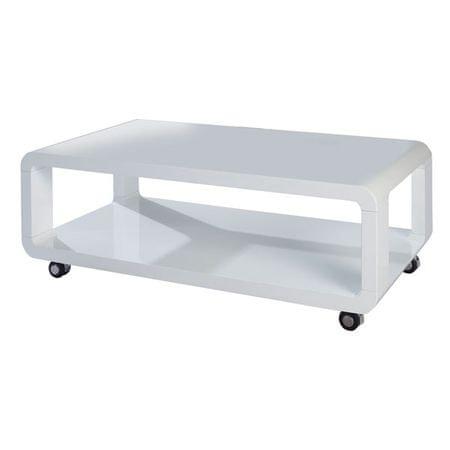 Klubska miza HANADI, bela
